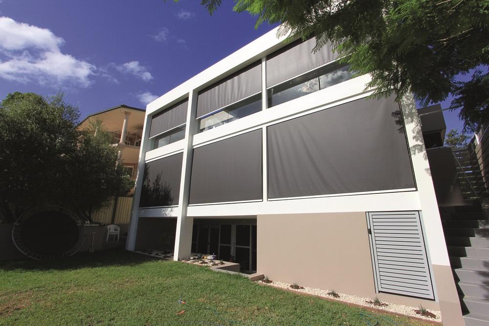 Sonnenschutz für Bürogebäude